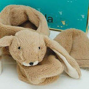 Novelty faux fur childrens scarves - bunny - Childrens accessories