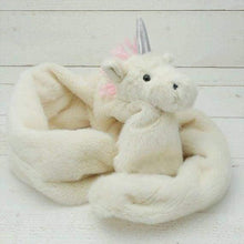 Novelty faux fur childrens scarves - unicorn - Childrens accessories