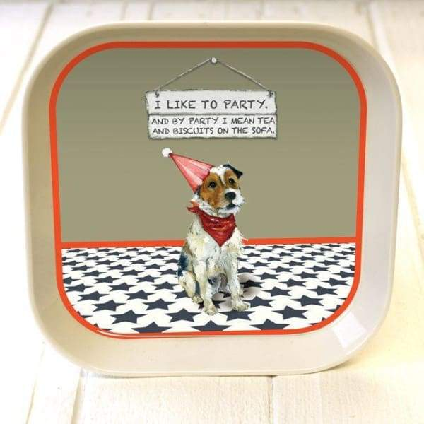 Parsons/Fox Terrier Trinket Tray - Its a good sign