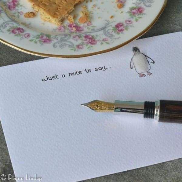 Penny Lindop Penguin Note cards - stationery
