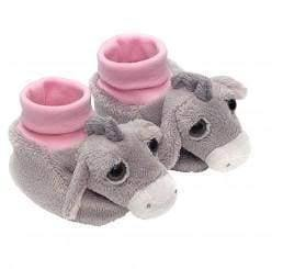 Pink Donkey booties for babies - baby