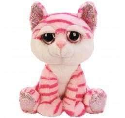 Pink small tabby cat teddy bear - children