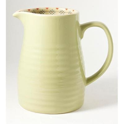 PISTACHIO 1.25ltr LARGE JUG PAISLEY - Cordelia's House of Treasures