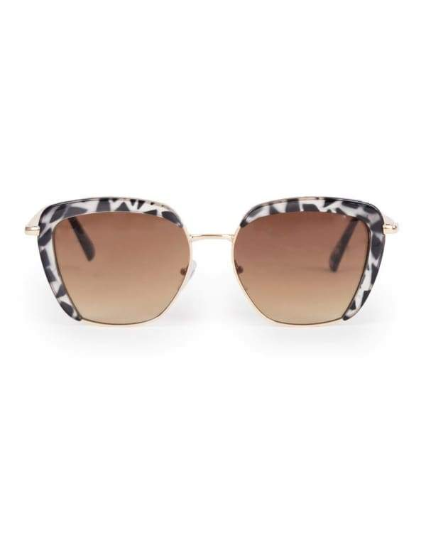 Powder Uk Black & White Tortoiseshell Bardot Sunglasses - Cordelia's House of Treasures