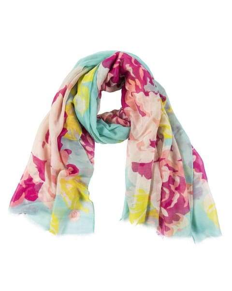 Rose Print Womens Scarf From Powder - scarf