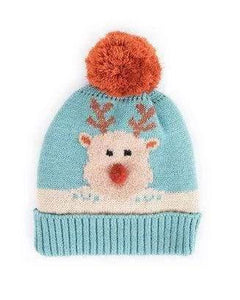 Rudolph Bobble hat - Woolly hats for kids - Cordelia's House of Treasures