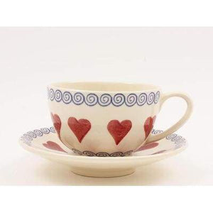 rustic and beautiful , Breakfast Cup and saucer, 300ml by - The Brixton Pottery - Cordelia's House of Treasures