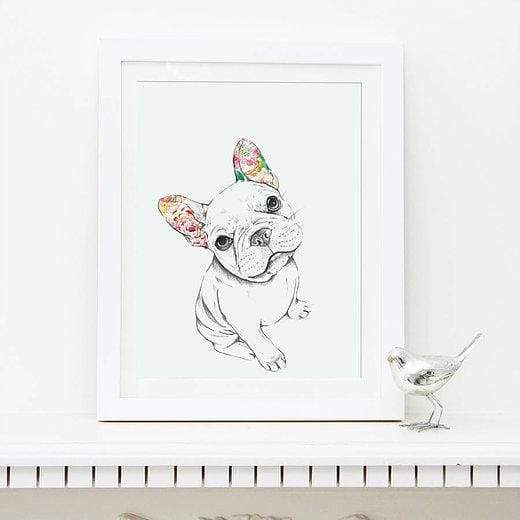 Sitting French Bulldog print - painting from Cordelias gift shop - home