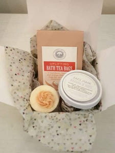 Small gift box of wild olive handmade products