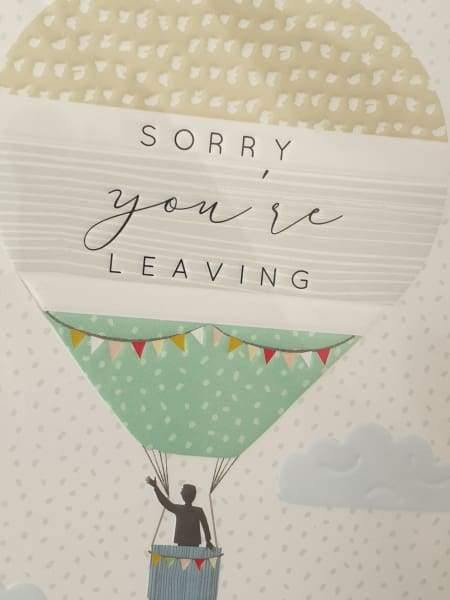 sorry you are leaving card - group four