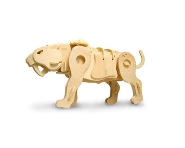 Sound Controlled Saber-toothed Tiger 3D Puzzles & Toys - Cordelia's House of Treasures