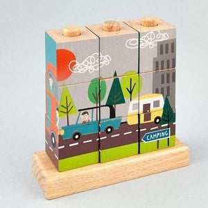 Transport Cube Puzzle Childrens Wooden Toys - children group one
