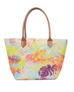 Tropical Print Beach Bag - women