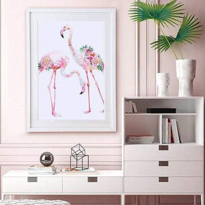 Two flamingos print - painting from Cordelia's gift shop - Cordelia's House of Treasures