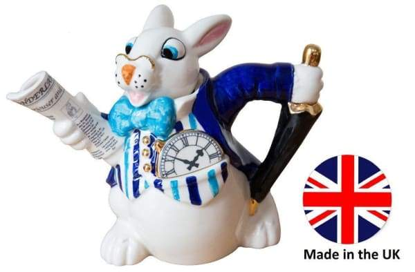 White Rabbit. Alice and Wonderland Tea Pot - Home
