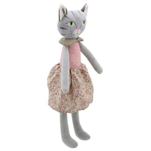 Wilberry Dressed Pink and Floral cat - Cordelia's House of Treasures