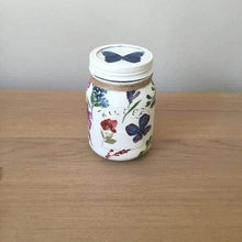 Wildflowers and butterflies chalk painted Kilner Jars - Cordelia's House of Treasures