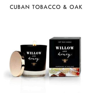 Willow And Honey - 200ml Cuban Tobacco & Oak Reed Diffuser - Cordelia's House of Treasures