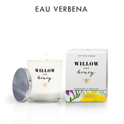 Willow And Honey - 220g Eau Verbena Candle - Cordelia's House of Treasures
