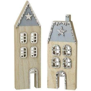 Wooden house ornament  Winter theme - Cordelia's House of Treasures