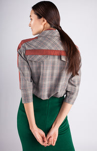 Crosby Check Print Shirt - Goreea Designs