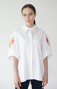 Ptichki Cotton Shirt - Goreea Designs