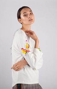 Chirping Birds Top (Originally $139) - Goreea Designs