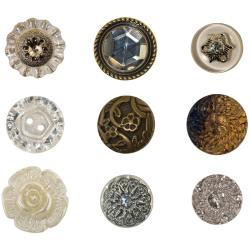 "Idea-Ology Accoutrements Buttons 9/Pkg Fanciful .626"" To 1"""