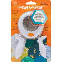 "Load image into Gallery viewer, Fiskars Squeeze Punch And Acrylic Template 2"" Hexagon"