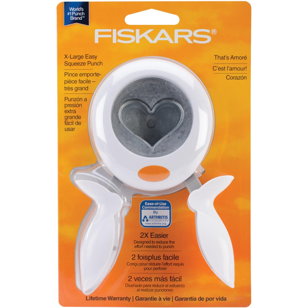 Fiskars Squeeze Punch X-Large heart