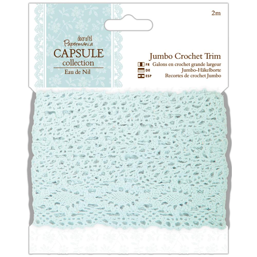 JUMBO CROCHET TRIM 2 YARD PALE BLUE
