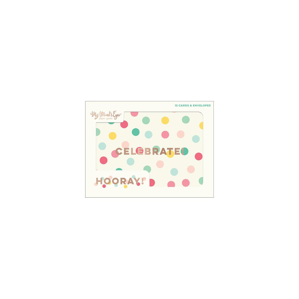 HRY121 Hooray Cards W/Envelopes 12/Pkg