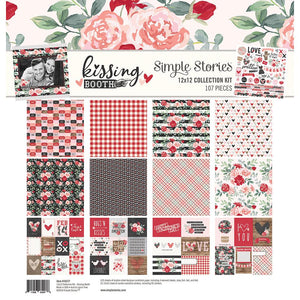 "KISSING BOOTH Simple Stories Collection Kit 12""X12"" Valentines"