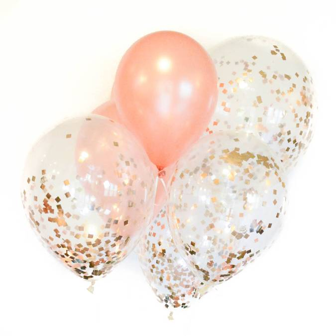 Rose Gold Glitter Bundle Bouquet Balloons