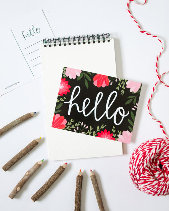 Alexa Zurcher - Hello Modern Calligraphy Postcards Pack of 5