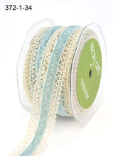 Load image into Gallery viewer, Ribbon 1 Inch Crochet with Velvet Center