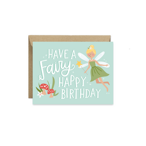 Alexa Zurcher - Fairy Happy Birthday Card