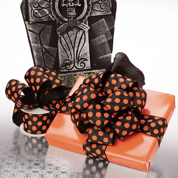 Halloween Wired Dot Ribbon