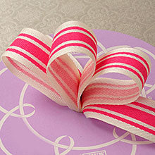 Ribbon Tri Striped Linen 7/8""