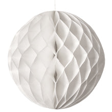 "HONEYCOMB TISSUE BALL - WHITE  8"", 12"" & 14"""