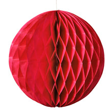 "HONEYCOMB TISSUE BALL - RED 8"" & 14"""