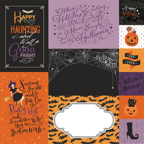 Echo Park Bewitched Journaling Cards 12x12 Paper