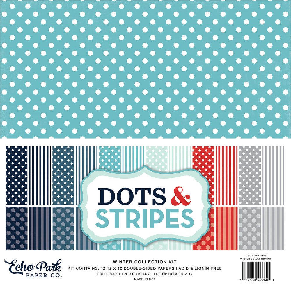 DS170163 - Winter Dots & Stripes Collection Kit