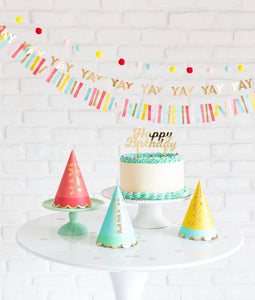 HBD708-HIP HIP HOORAY PARTY HATS