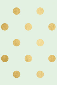 PGW302- Trend Wrapping Paper Mint with Gold Foil