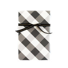 Load image into Gallery viewer, PGW311 -PLAID WRAPPING PAPER BUFFALO CHECK/BLACK DOT