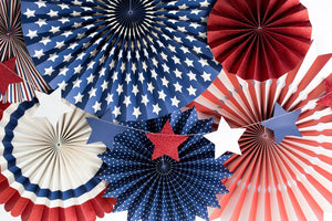 SSP005 STARS & STRIPES MINI BANNER-MULTI COLOR STARS