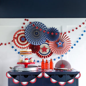 SSP205 STARS & STRIPES PARTY FANS