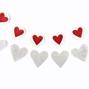 VAL506 - VALENTINE HEART & CIRCLE HEART BANNER SET