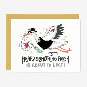 Paper Pony Co. - Fresh Drop Stork Card
